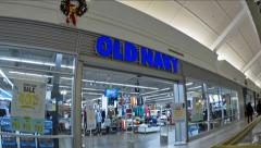Old Navy storefront zoom-in Stock Footage