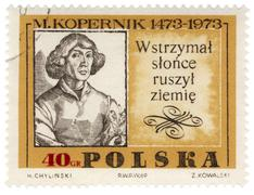 portrait of polish astronomer nicolaus copernicus - stock photo
