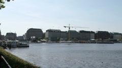 Hamburg Binnenalster Stock Footage