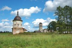 Stock Photo of destroyed towers of ancient monastery