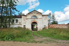 Ancient oshevensky monastery Stock Photos