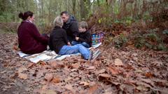 autumn picnic - stock footage