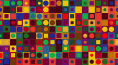Circles and squares - stock footage