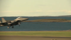 RAF Lakenheath's F-15Cs and Strike Eagles Stock Footage