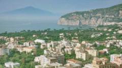 Holiday Destination Sorrento Bay Of Naples Italy - 29,97FPS NTSC Stock Footage