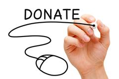 online donation concept - stock photo