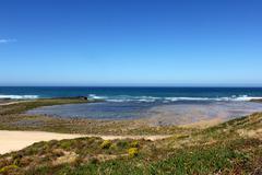 vila nova de milfontes beach, portugal - stock photo