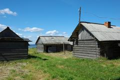Old wooden sheds Stock Photos