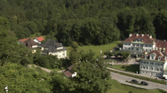 Hohenschwangau village near Fussen, Bavaria, Germany Stock Footage