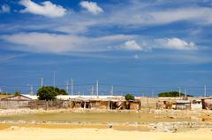 colombian slum - stock photo