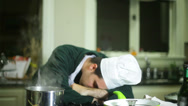 Stock Video Footage of chef asleep sleep sleeping