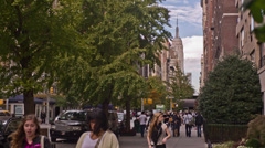 Empire State Building from Lower Fifth Ave Stock Footage