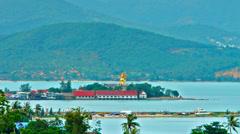 The Big Buddha. Koh Samui. Thailand - stock footage