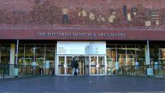 Potteries Museum and Art Gallery Entrance Stock Footage