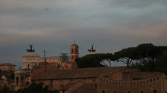 Thousands of starlings over Rome 81 Stock Footage