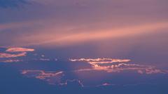 Beautiful amazing clouds passing sunset sunrise sky heaven dramatic twilight  Stock Footage