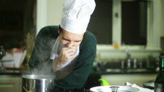 Chef unsanitary conditions health code violation Stock Footage