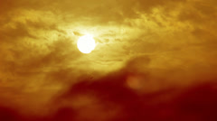 Hot Sunset Clouds and Sun HD - stock footage