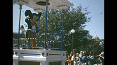 Disneyworld 1970's: Mickey Mouse in the main stret parade Stock Footage