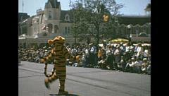 Disneyworld 1970's: main street parade Stock Footage