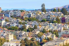 Stock Photo of typical san francisco neighborhood, california