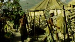 Aden British military outpost camp desert HD D002 - stock footage