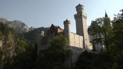 The Neuschwanstein Castle, built by King Ludwig II of Bavaria - stock footage