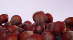 hazelnut slow motion - stock footage