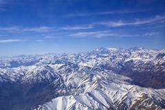 Andean mountains. aerial photo Stock Photos