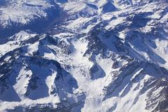 andean mountains. aerial photo - stock photo