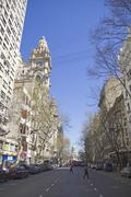 may avenue in buenos aires. - stock photo