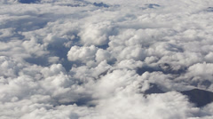 Mountain tops above the clouds HD Stock Footage