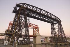 nicolas avellaneda bridge, buenos aires - stock photo