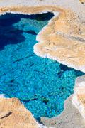 Yellowstone national park, blue star spring in the upper geyser basin, wyomin Stock Photos