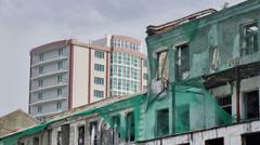 ruins, broken, building, city, old, ruin - stock footage