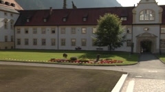 Bendictine Monastery in Ettal, Bavaria, Germany Stock Footage