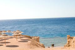 the coast of sharm el sheikh in egypt - stock photo