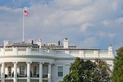Washington d.c., usa - oct 4, 2012 : the white house guard Stock Photos