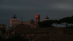 Thousands of starlings over Rome 93 (ideal for end credits) Stock Footage