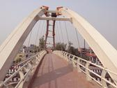 Stock Photo of A footover bridge in New Delhi