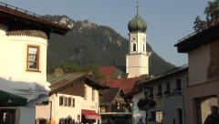 The town of Oberammergau, Bavaria, Germany - stock footage
