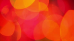 Red lights bokeh Stock Footage
