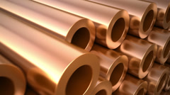 Copper pipes - stock footage