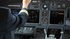 Boeing 737 cockpit Stock Footage