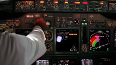 Boeing 737 cockpit - stock footage