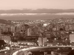 Stock Photo of City scape, sepia