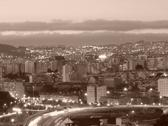 Stock Photo of City scape, sepia
