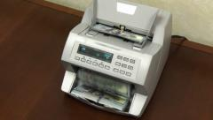 4K Slow Zoom Money Counting Machine 3778 - stock footage