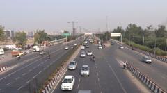 New Delhi city traffic Stock Footage