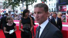 F1 Racing Driver David Coulthard at the London premiere of the film Rush - stock footage